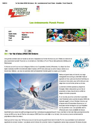 11 01 Urge Enduro Ski Punch Power